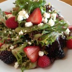 Northwest Berry Salad - Mixed greens, strawberries, blackberries, raspberries, pecans, honey-goat cheese, raspberry vinaigrette