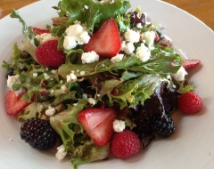 Northwest Berry Salad - Mixed greens, strawberries, blackberries, raspberries, pecans, honey-goat cheese, raspberry vinaigrette